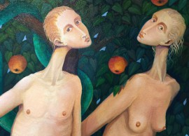 Adam And Eve original painting by Arnoldas Švenčionis. Oil painting