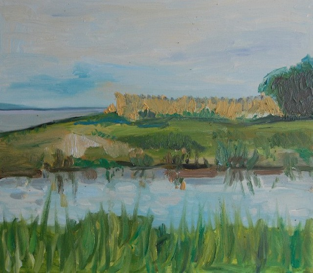 Landscape original painting by Sigita Dabulskytė. Oil painting