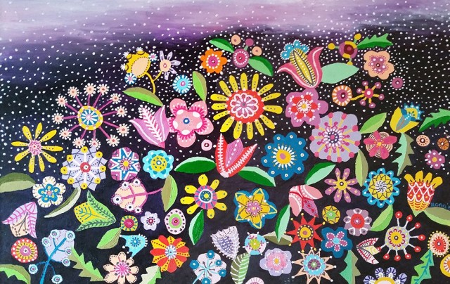 Colorful Dream original painting by Ilona Venckienė. Oil painting