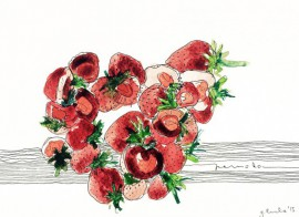 Overripened original painting by Luka Galinytė. Watercolor painting