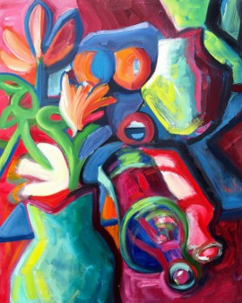 Still Life with Bottles original painting by Inga Girčytė. Oil painting