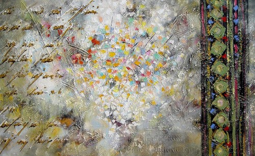 Improvisation of Thoughts Theme original painting by Konstantinas Žardalevičius. Oil painting
