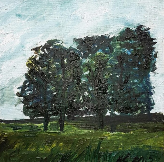 The Trees original painting by Kristina Česonytė. Oil painting