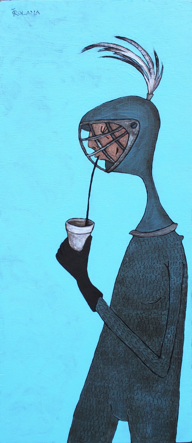 Coffee? original painting by Rolana Čečkauskaitė. Home