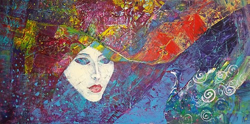 Metamorphosis original painting by Jurgita Vaidilaitė. Abstract Paintings