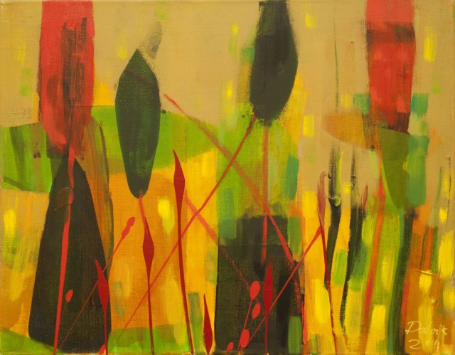 No title 2 original painting by Dalvytis Udrys. Abstract Paintings