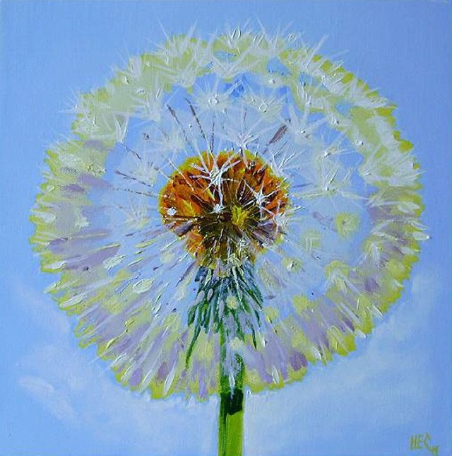 Sowthistle 2 original painting by Haris. Oil painting