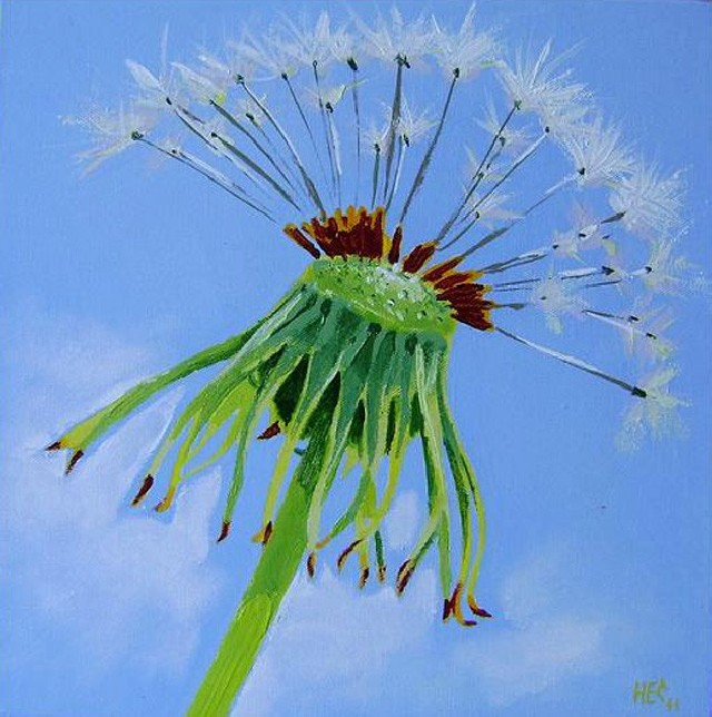 Sowthistle 3 original painting by Haris. Oil painting