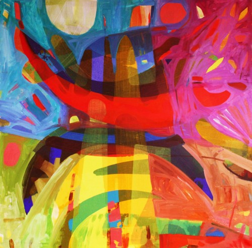 Morning original painting by Dalvytis Udrys. Abstract Paintings