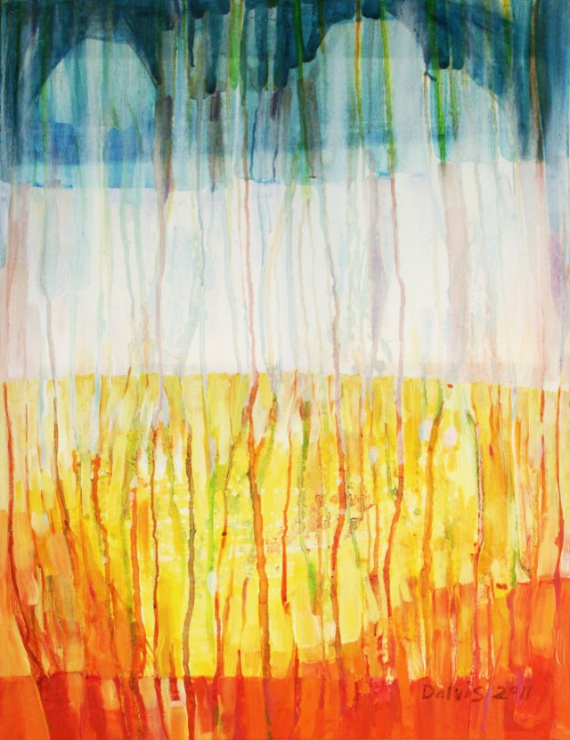 Spring II original painting by Dalvytis Udrys. Abstract Paintings