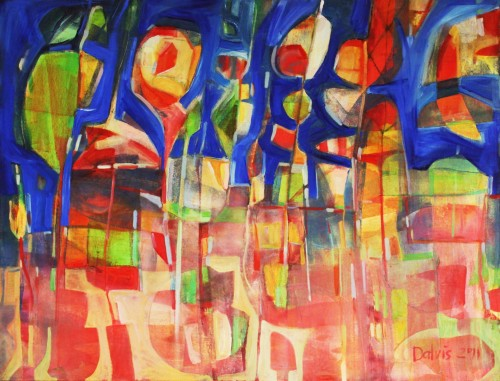 Abstract composition II original painting by Dalvytis Udrys. Abstract Paintings