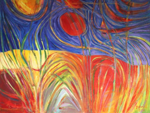 Dunes original painting by Dalvytis Udrys. Abstract Paintings