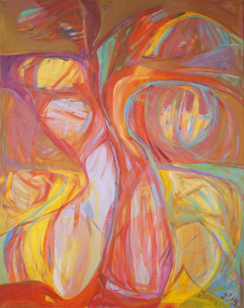 Torso original painting by Dalvytis Udrys. Abstract Paintings