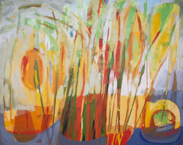 Reed original painting by Dalvytis Udrys. Abstract Paintings
