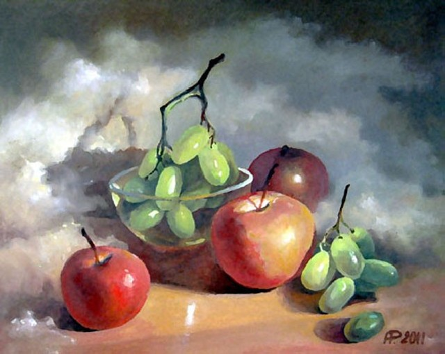 Fruits original painting by Aloyzas Pacevičius. Oil painting
