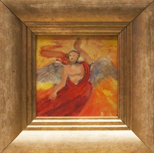Fire angel original painting by Rasa Staskonytė. Miniature