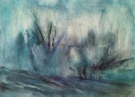 Drizzle original painting by Sigita Dabulskytė. Abstract Paintings