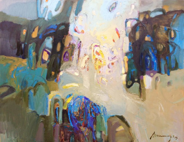 Park Light original painting by Ramūnas Dagys. Abstract Paintings