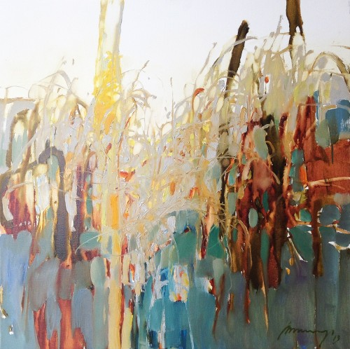 Meadow original painting by Ramūnas Dagys. Abstract Paintings