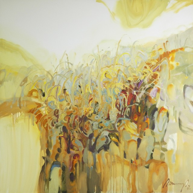 Thicket Light original painting by Ramūnas Dagys. Abstract Paintings