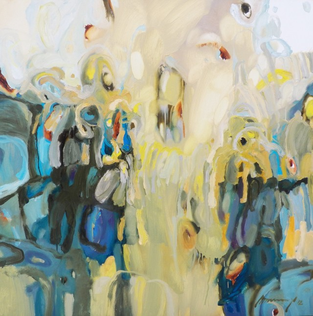 Morning Greeting original painting by Ramūnas Dagys. Abstract Paintings