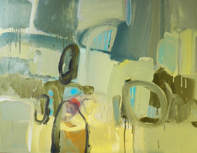 Rain in Nida original painting by Ramūnas Dagys. Abstract Paintings