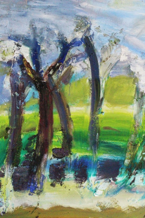 Dancing Trees original painting by Kristina Čivilytė. Abstract Paintings