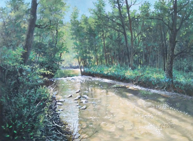 Small River original painting by Aloyzas Pacevičius. Landscapes