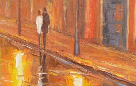 Take a Walk 2 original painting by Rimantas Virbickas. Urbanistic - Cityscape
