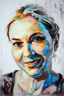 Jolanta original painting by Jonas Kunickas. Portrait