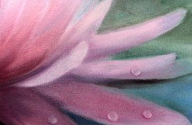 Lily original painting by Rita Medvedevienė. Flowers