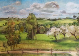 Mountains with Apple Trees