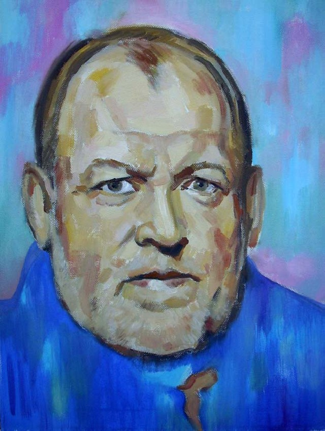Joe Cocker original painting by Vidmantas Jažauskas. Portrait