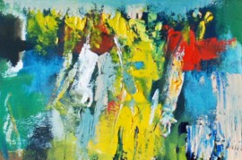 Uostadvaris village original painting by Antanas Virginijus-Krištopaitis. Abstract Paintings