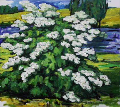 Spring original painting by Albinas Markevičius. Flowers