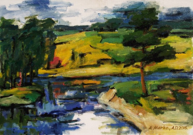 Summer original painting by Albinas Markevičius. Landscapes