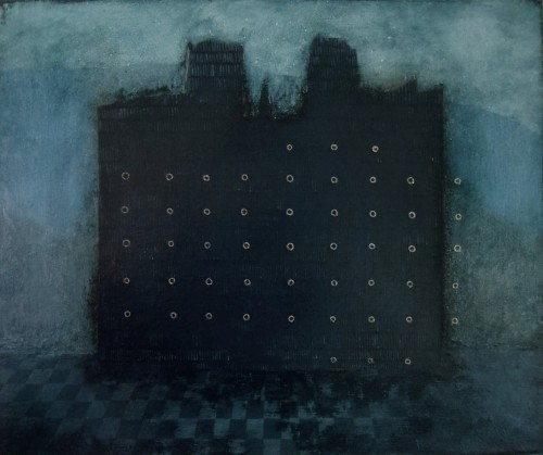 Dark (Bunratty) Castle original painting by Vaida Varnagienė. Urbanistic - Cityscape
