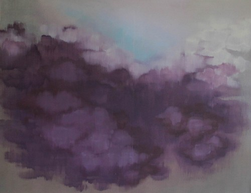 A Small Hope through the Clouds original painting by Živilė Avižienytė. Abstract Paintings