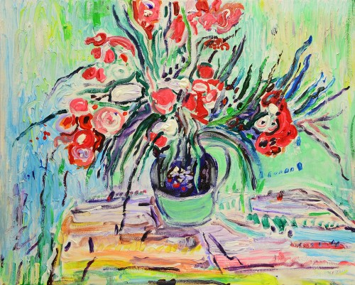 Still Life original painting by Arvydas Martinaitis. Flowers