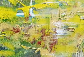 Flowering in the Mist original painting by Jurgita Vaidilaitė. Abstract Paintings