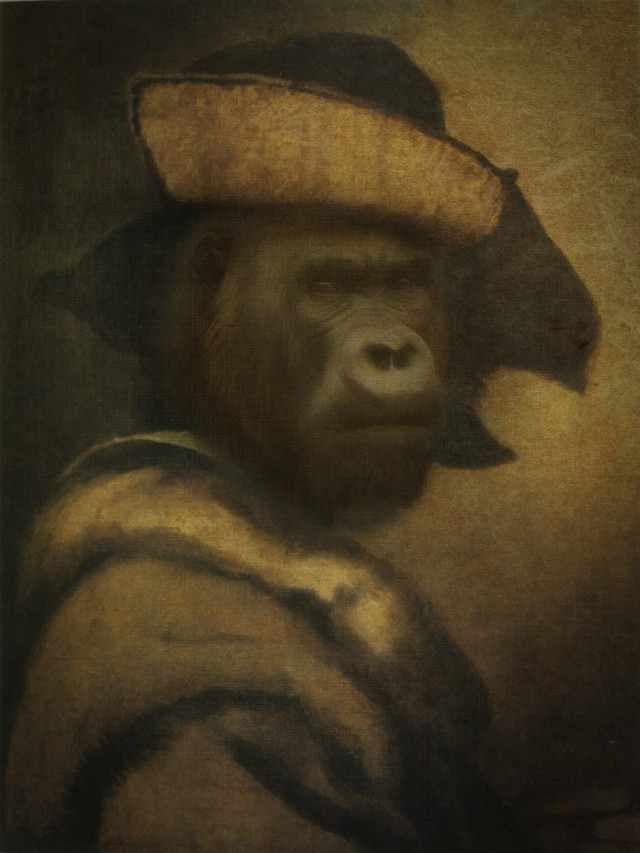 Robber Gorilla original painting by GetArtFactory. Fantastic