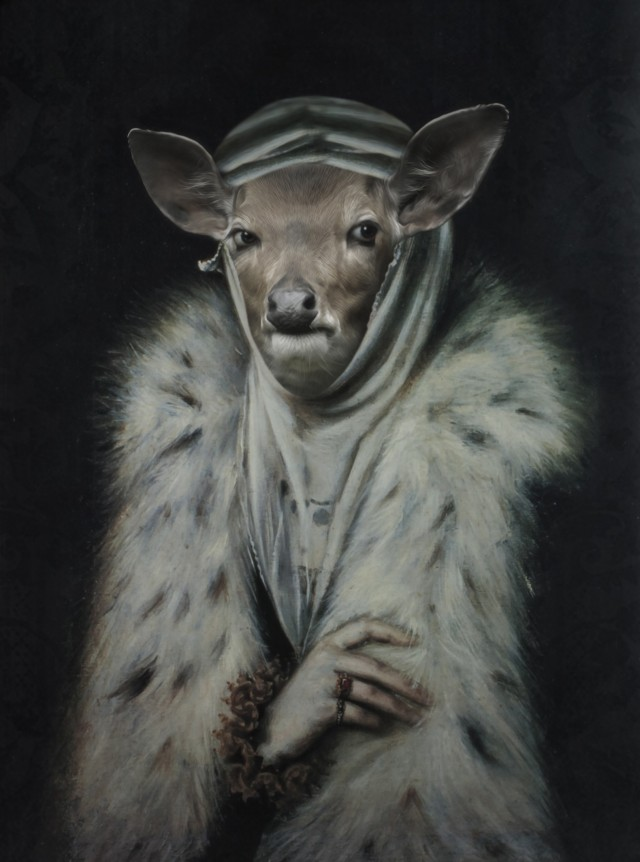 Mrs. Gazelle original painting by GetArtFactory. Fantastic