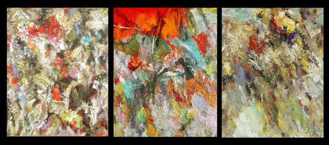 How to Choose Direction (Triptych) original painting by Konstantinas Žardalevičius. Abstract Paintings