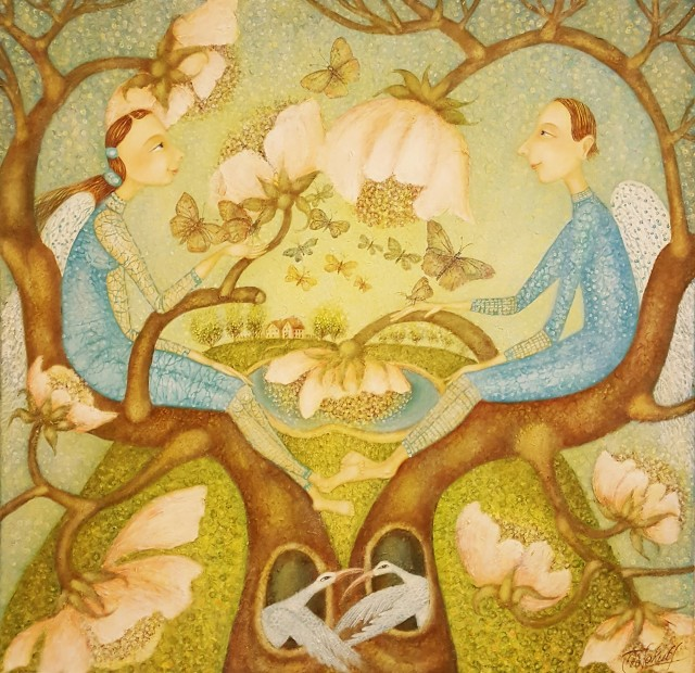 The Tree of Life original painting by Danguolė Jokubaitienė. Fantastic