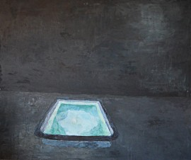 Pool original painting by Dovilė Bagdonaitė. Still-Life