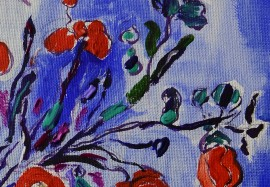 Still Life with a Poppy original painting by Arvydas Martinaitis. Flowers