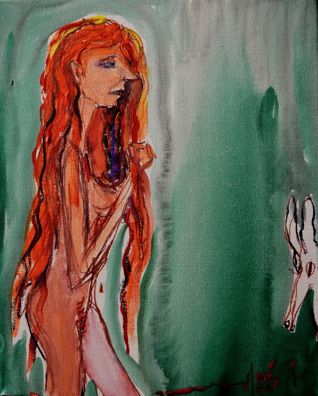 Advise you painting of red headed woman think