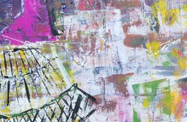 Pink Mind original painting by Lina Zareckaitė. Abstract Paintings