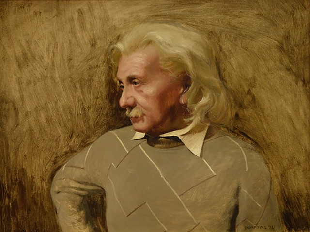 A. Einstein original painting by Donatas Vasiliauskas. Paintings With People