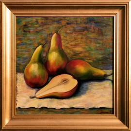 Still Life with a Pears original painting by Irena Jasiūnienė. Still-Life
